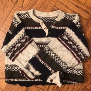 Vintage 90s Button Up Boyfriend Sweater